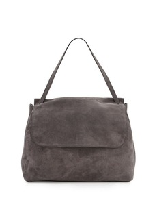 THE ROW Top-Handle 14 Suede Satchel Bag