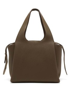The Row TR1 large grained-leather bag