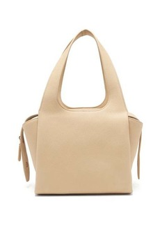 The Row TR1 medium grained-leather bag