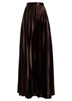 The Row Vailen pleated satin skirt