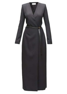 The Row Vana belted cady wrap dress
