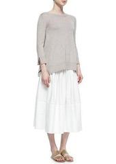 THE ROW Vanni Drop-Waist Pleated Skirt