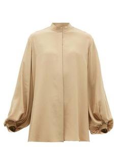 The Row Vara balloon-sleeve silk blouse