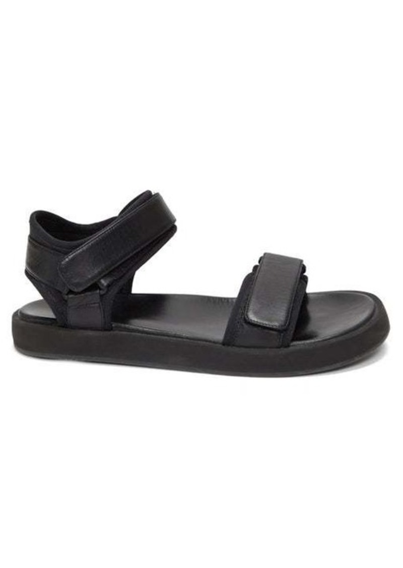 The Row Velcro-strap leather sandals