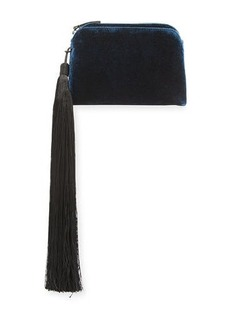 THE ROW Velvet Mini Wristlet Bag with Tassel