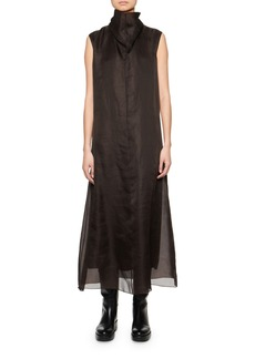 THE ROW Virginia Sleeveless Silk Organza Dress