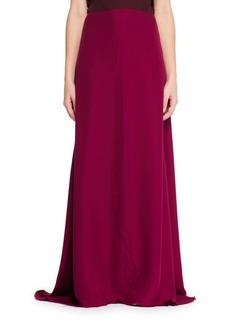 THE ROW Vivi Long A-Line Silk Skirt