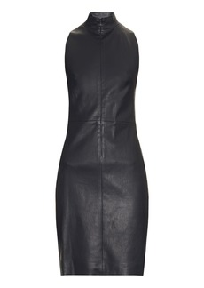 The Row Welcon leather dress