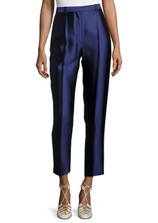 The Row William Single-Pleat Straight-Leg Pants