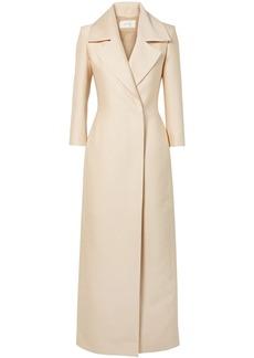 The Row Woman Addy Silk-crepe Coat Ecru