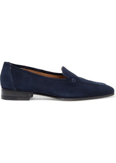 The Row Woman Alin Suede Loafers Navy