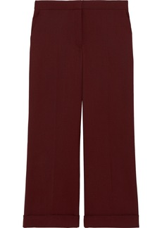 The Row Woman Ane Wool Wide-leg Pants Burgundy