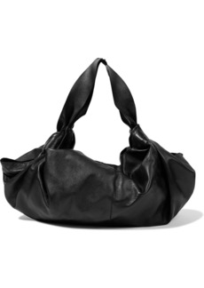 The Row Woman Ascot Medium Knotted Leather Tote Black