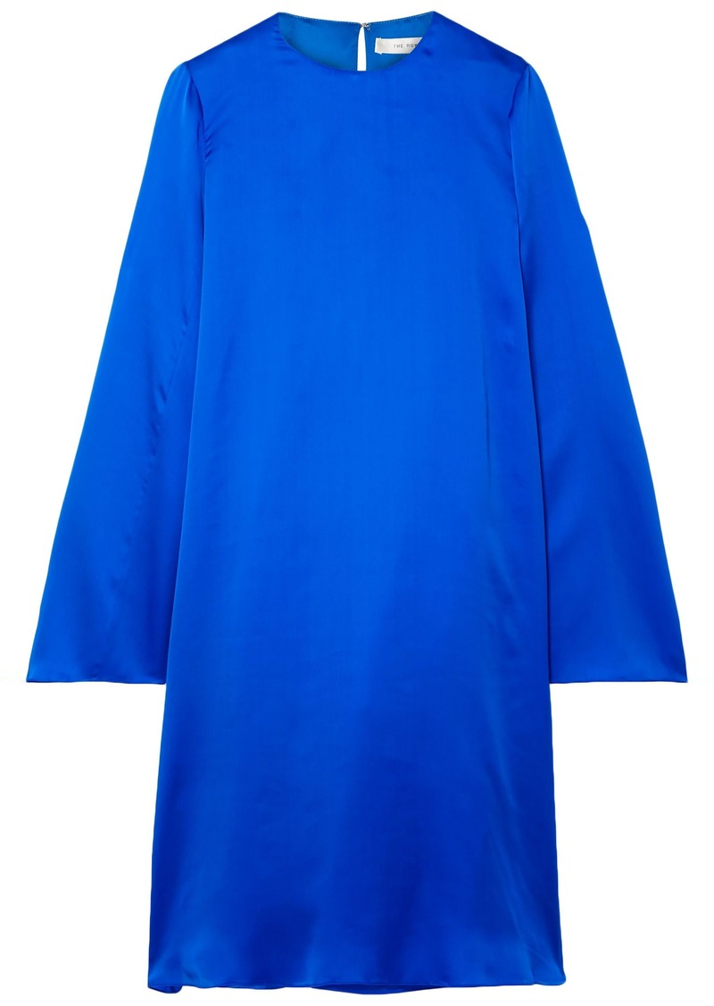 The Row Woman Bantoi Washed Silk-charmeuse Dress Bright Blue