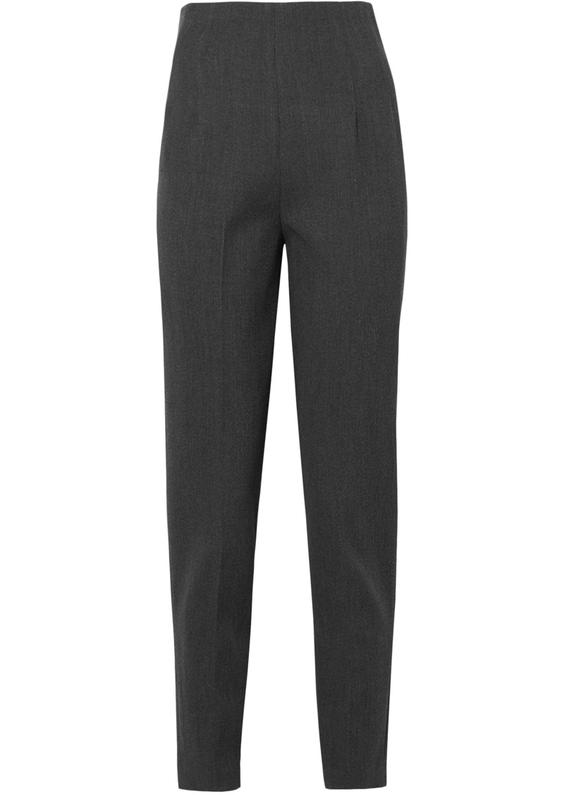 The Row Woman Cat Stretch-wool Twill Tapered Pants Gray
