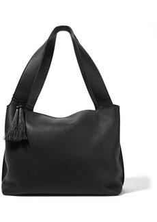The Row Woman Duplex Tasseled Pebbled-leather Shoulder Bag Black