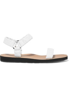The Row Woman Egon Gathered Leather Sandals White
