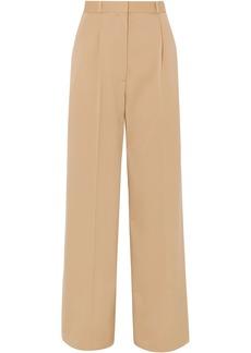 The Row Woman Elin Wool-blend Twill Wide-leg Pants Beige