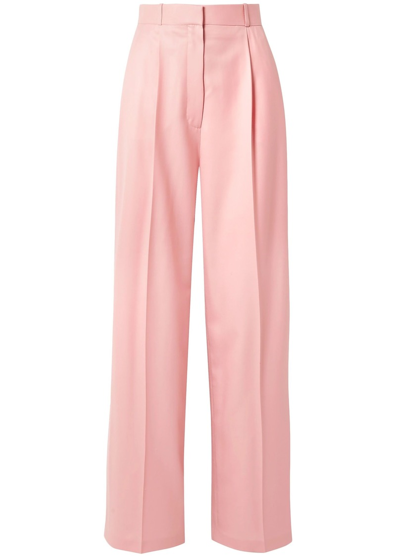 The Row Woman Elin Wool-twill Wide-leg Pants Baby Pink
