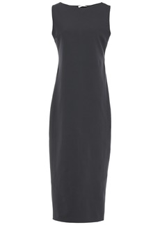 The Row Woman Erin Scuba Midi Dress Charcoal