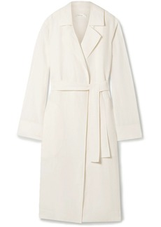 The Row Woman Gami Belted Canvas Trench Coat Ivory