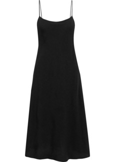 The Row Woman Gibbons Crepe Midi Slip Dress Black
