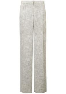 The Row Woman Hester Tweed Wide-leg Pants Light Gray