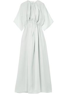 The Row Woman Katelyn Silk-gauze Maxi Dress Light Gray