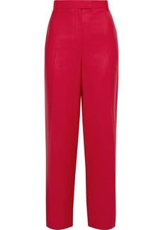 The Row Woman Lada Grain De Poudre Wool Straight-leg Pants Red