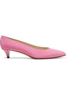 The Row Woman Lady D Silk-satin Pumps Pink