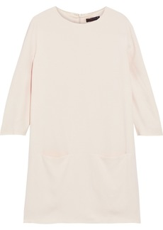 The Row Woman Marina Crepe Mini Dress Cream