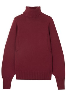The Row Woman Meredith Wool Turtleneck Sweater Claret