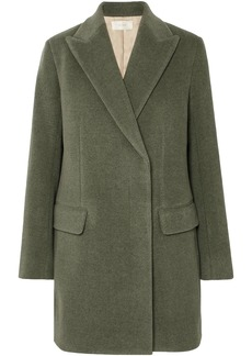 The Row Woman Mewey Wool-blend Twill Coat Green