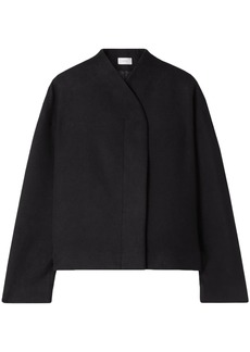 The Row Woman Moona Cotton And Wool-blend Jacket Black