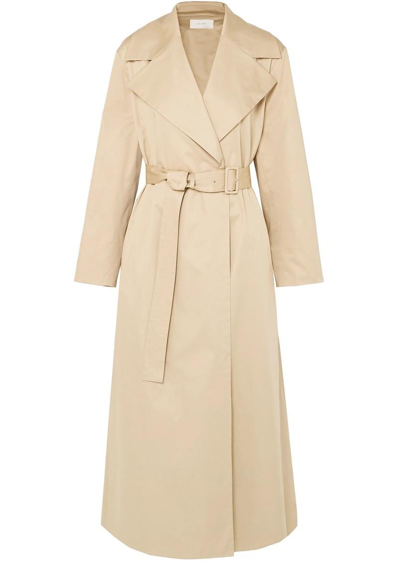 The Row Woman Moora Cotton-blend Poplin Trench Coat Beige