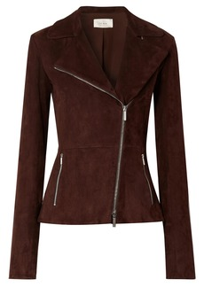 The Row Woman Paylee Suede Biker Jacket Plum