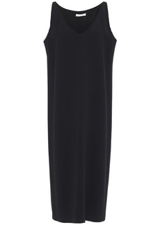 The Row Woman Ramona Stretch-crepe Midi Dress Black