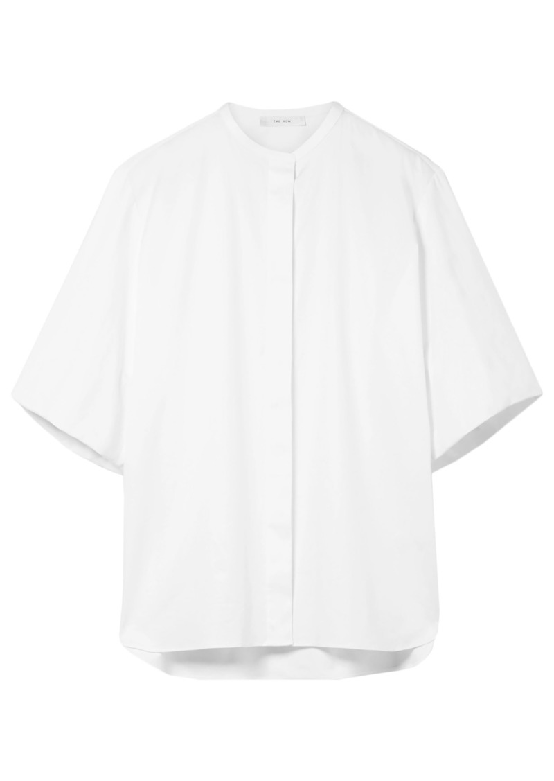 The Row Woman Raul Stretch-cotton Poplin Shirt White