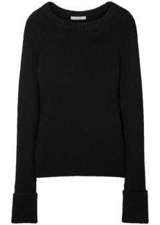 The Row Woman Sabra Ribbed Wool Sweater Black
