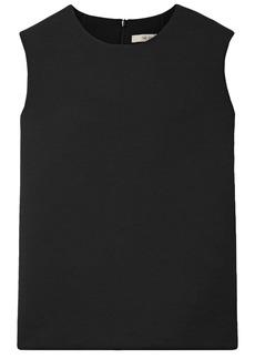 The Row Woman Sibon Wool-blend Crepe Top Black