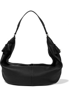 The Row Woman Sling Pebbled-leather Shoulder Bag Black