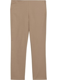The Row Woman Sorocco Cotton-blend Slim-leg Pants Sand