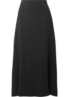 The Row Woman Sprecher Stretch-cady Midi Skirt Black