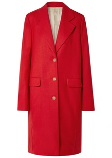 The Row Woman Teymon Oversized Grain De Poudre Wool Coat Red