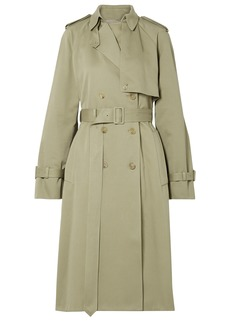 The Row Woman Triana Cotton-twill Trench Coat Sage Green