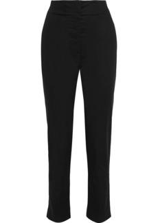The Row Woman Vivienne Cotton-blend Poplin Slim-leg Pants Black