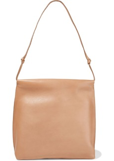 The Row Woman Wander Leather Shoulder Bag Camel