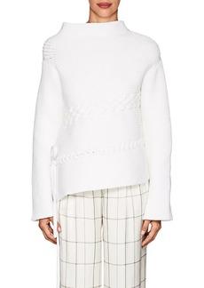 The Row Women's Alys Cotton-Blend Asymmetric Sweater