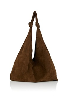 94b85a6ae228 The Row Women s Bindle Double-Knot Suede Shoulder Bag - Olive