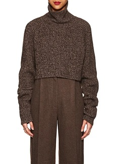 The Row Women's Dickie Cashmere Crop Turtleneck Sweater